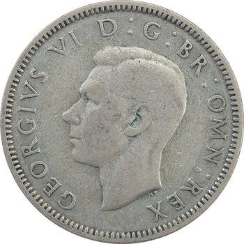 سکه 1 شیلینگ 1937 جرج ششم - تیپ 2 - EF40 - انگلستان