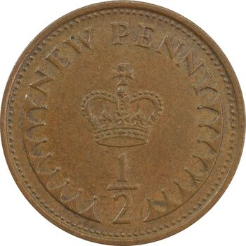 سکه 1/2 پنی 1974 الیزابت دوم - EF45 - انگلستان