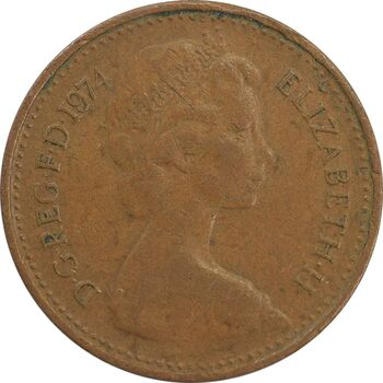 سکه 1/2 پنی 1974 الیزابت دوم - EF40 - انگلستان