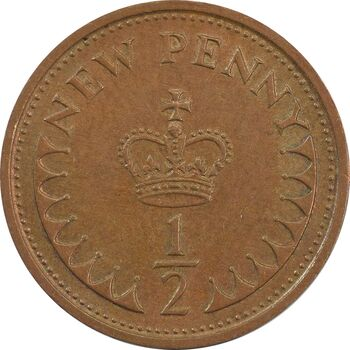 سکه 1/2 پنی 1976 الیزابت دوم - AU50 - انگلستان