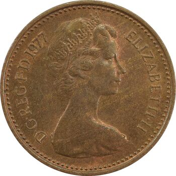 سکه 1/2 پنی 1977 الیزابت دوم - AU58 - انگلستان