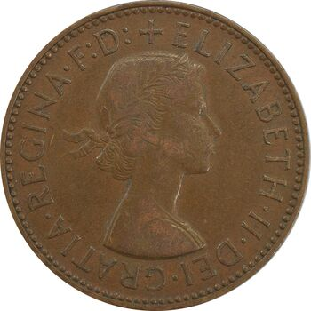 سکه 1/2 پنی 1957 الیزابت دوم - EF40 - انگلستان