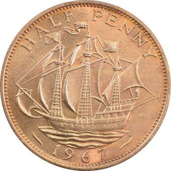 سکه 1/2 پنی 1967 الیزابت دوم - MS63 - انگلستان