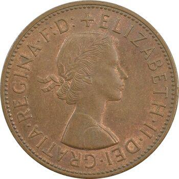 سکه 1 پنی 1962 الیزابت دوم - AU55 - انگلستان