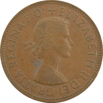 سکه 1 پنی 1962 الیزابت دوم - EF40 - انگلستان