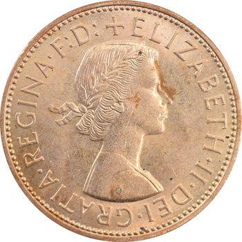 سکه 1 پنی 1963 الیزابت دوم - MS63 - انگلستان