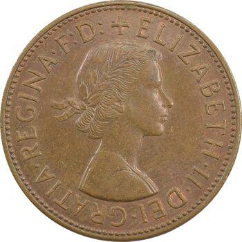 سکه 1 پنی 1964 الیزابت دوم - AU58 - انگلستان