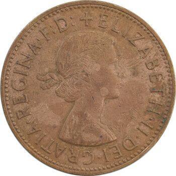 سکه 1 پنی 1964 الیزابت دوم - VF35 - انگلستان