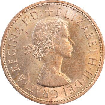 سکه 1 پنی 1966 الیزابت دوم - MS65 - انگلستان
