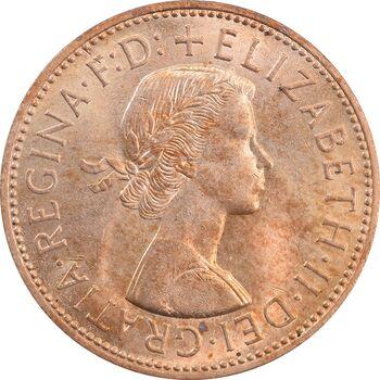 سکه 1 پنی 1967 الیزابت دوم - MS63 - انگلستان