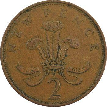 سکه 2 پنس 1976 الیزابت دوم - VF35 - انگلستان