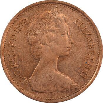 سکه 2 پنس 1979 الیزابت دوم - AU58 - انگلستان