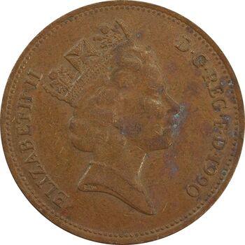 سکه 2 پنس 1990 الیزابت دوم - EF40 - انگلستان