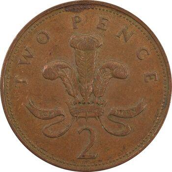 سکه 2 پنس 1994 الیزابت دوم - EF45 - انگلستان