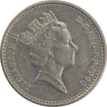 سکه 5 پنس 1990 الیزابت دوم - EF45 - انگلستان