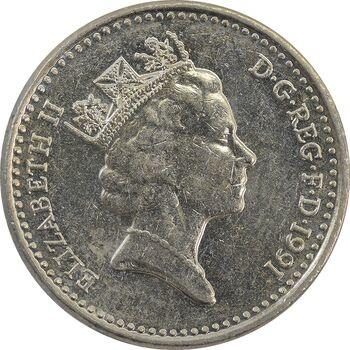 سکه 5 پنس 1991 الیزابت دوم - MS61 - انگلستان