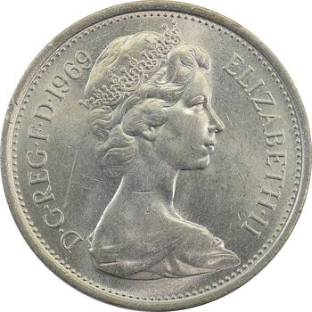 سکه 5 پنس 1969 الیزابت دوم - MS62 - انگلستان