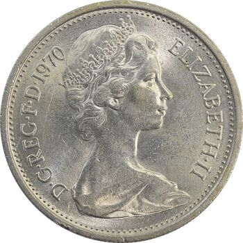 سکه 5 پنس 1970 الیزابت دوم - MS62 - انگلستان