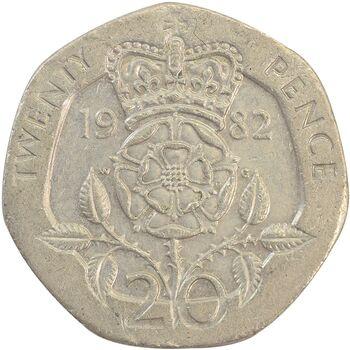 سکه 20 پنس 1982 الیزابت دوم - EF45 - انگلستان