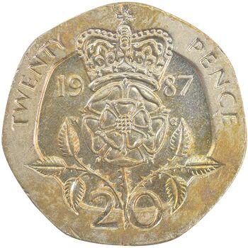 سکه 20 پنس 1987 الیزابت دوم - AU58 - انگلستان