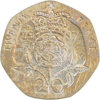 سکه 20 پنس 1987 الیزابت دوم - AU55 - انگلستان