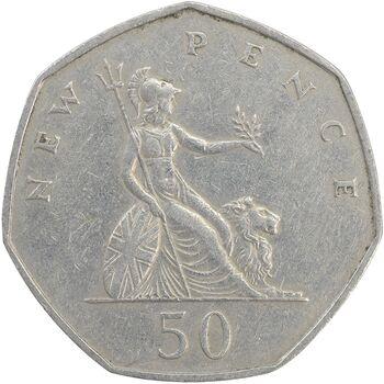 سکه 50 پنس 1969 الیزابت دوم - EF45 - انگلستان