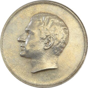 مدال نقره بیست و پنجمین سال سلطنت 1344 - MS61 - محمدرضا شاه