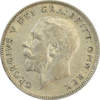 سکه 6 پنس 1922 جرج پنجم - MS62 - انگلستان