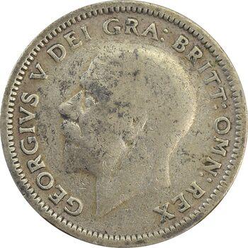 سکه 6 پنس 1926 جرج پنجم - VF25 - انگلستان