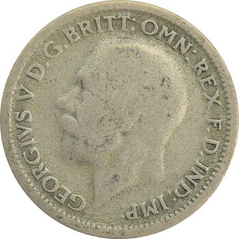 سکه 6 پنس 1928 جرج پنجم - VF30 - انگلستان