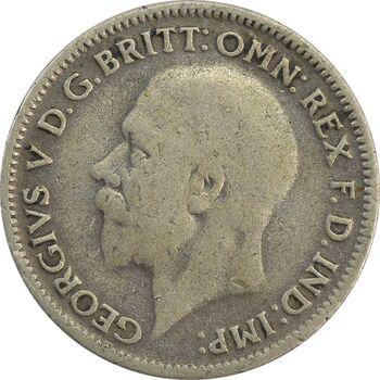 سکه 6 پنس 1931 جرج پنجم - VF35 - انگلستان