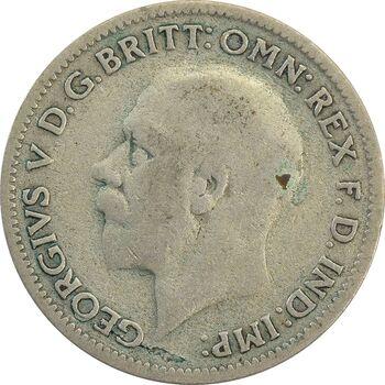 سکه 6 پنس 1932 جرج پنجم - VF30 - انگلستان