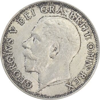 سکه 1 شیلینگ 1921 جرج پنجم - AU55 - انگلستان