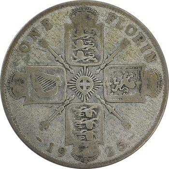 سکه 1 فلورین 1925 جرج پنجم - F - انگلستان