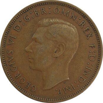 سکه 1 پنی 1939 جرج ششم - EF40 - انگلستان