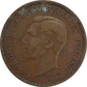 سکه 1 پنی 1939 جرج ششم - VF35 - انگلستان