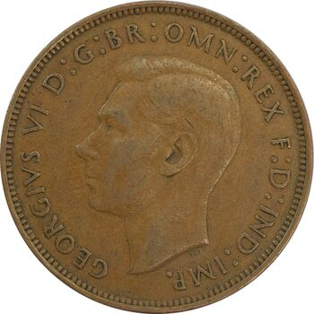 سکه 1 پنی 1944 جرج ششم - EF40 - انگلستان