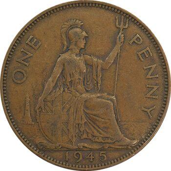 سکه 1 پنی 1945 جرج ششم - EF40 - انگلستان