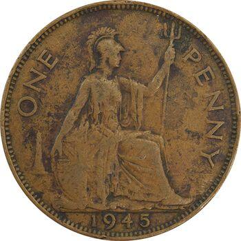 سکه 1 پنی 1945 جرج ششم - VF30 - انگلستان