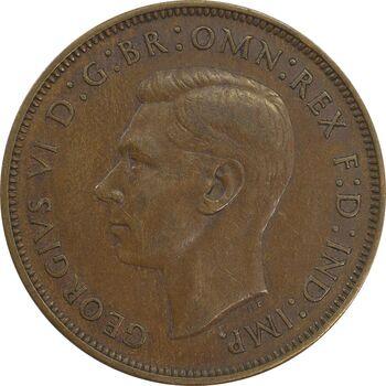 سکه 1 پنی 1946 جرج ششم - EF45 - انگلستان
