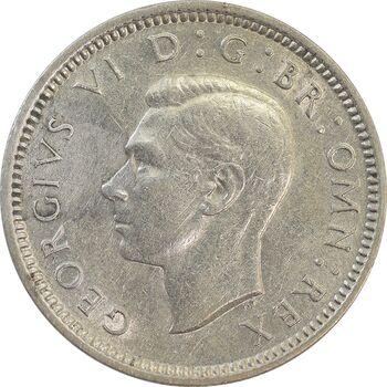 سکه 6 پنس 1938 جرج ششم - AU58 - انگلستان