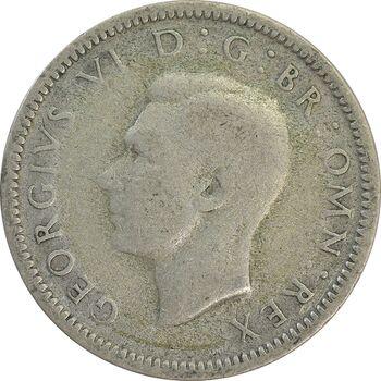 سکه 6 پنس 1938 جرج ششم - VF30 - انگلستان
