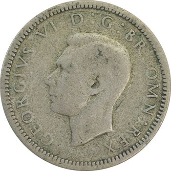 سکه 6 پنس 1938 جرج ششم - VF25 - انگلستان
