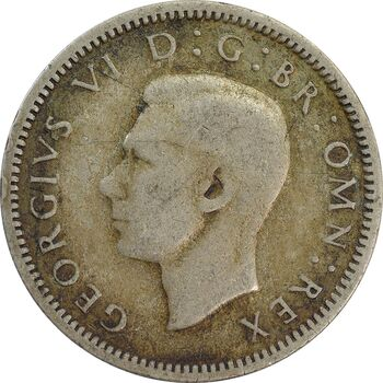 سکه 6 پنس 1939 جرج ششم - VF35 - انگلستان