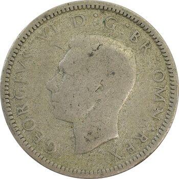 سکه 6 پنس 1939 جرج ششم - VF25 - انگلستان