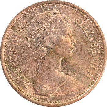 سکه 1 پنی 1976 الیزابت دوم - MS63 - انگلستان