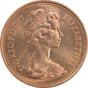 سکه 1 پنی 1977 الیزابت دوم - MS65 - انگلستان