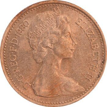 سکه 1 پنی 1980 الیزابت دوم - MS62 - انگلستان