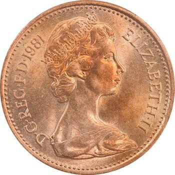 سکه 1 پنی 1981 الیزابت دوم - MS64 - انگلستان