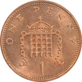 سکه 1 پنی 1984 الیزابت دوم - MS63 - انگلستان